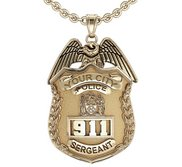 Personalized Sergeant Badge with Your Number   Department