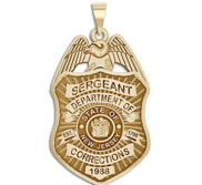 Personalized New Jersey Correction Police Badge with Your Rank  Number   Department