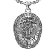 Personalized Atlantic City New Jersey Police Badge with Your Name   Department