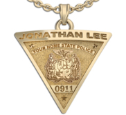Personalized Triangle Shape State Police Badge with Your Name   Badge Number
