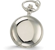 Charles Hubert Women s Chrome Tone Polished Necklace Watch
