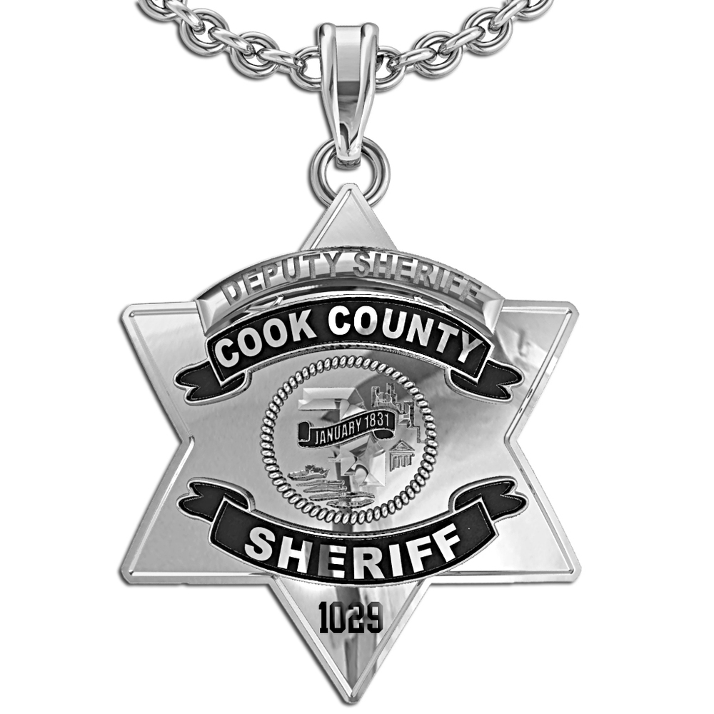 Personalized cook county sheriff badge pg86000 aloadofball Image collections