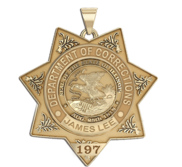 Personalized Illinois Correction Officer Police Badge with Your Rank and Number
