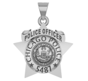 Personalized Chicago Police Badge with Your Name or Rank and Number