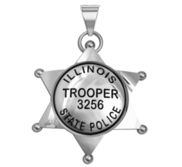 Personalized Illinois Police Badge with Your Rank   Number