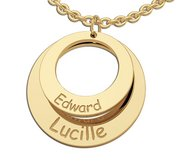 Personalized Round Mother s Cut out Two Disc Charm Pendant
