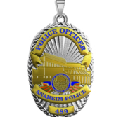 Personalized Anaheim Police Badge with Your Rank and Number