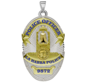 Personalized La Habra California Police Badge with Your Rank and Number