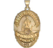 Personalized Pomona California Police Badge with Your Rank and Number