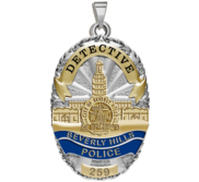 Personalized Beverly Hills Police Badge with Your Rank and Number