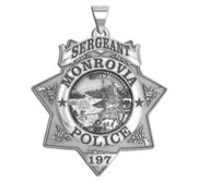 Personalized California 7 Point Star Police Badge with Your Department  Rank and Number