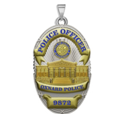 Personalized Oxnard California Police Badge with Your Rank and Number