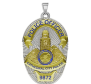 Personalized Cathedral City California Police Badge with Your Rank and Number