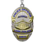 Personalized Lodi California Police Badge with Your Rank and Number