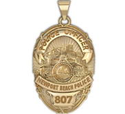 Personalized Newport Beach California Police Badge with Your Rank and Number