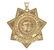 Personalized California Highway Patrol Badge with Rank and Number
