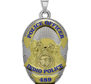 Personalized California Indio Police Badge with Your Rank and Number