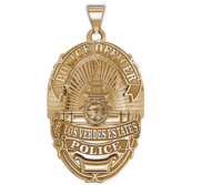 Personalized Palos Verdes California Police Badge with Your Rank and Number