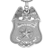 Personalized Texas Police Badge with Your Rank  Number   Department