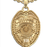 Personalized Texas Police Badge with Your Name  Rank  Number   Department