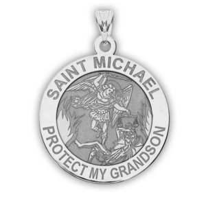 Saint Michael   Protect My Grandson   Religious Medal   EXCLUSIVE