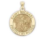 Saint Michael   Protect My Mother   Religious Medal   EXCLUSIVE