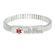 Stainless Steel Women s Do Not Resuscitate Expansion Bracelet
