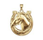 Race Horse   Horseshoe Horse Pendant or Charm