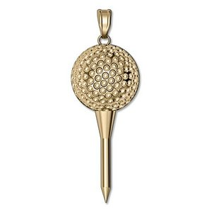 Golf Ball on a Tee Golf Jewelry Charm or Pendant