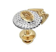 Two Tone Golf Ball with Crossed Clubs Tie Tac Golf Jewelry