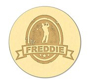 Golfer with Name Golf Ball Marker