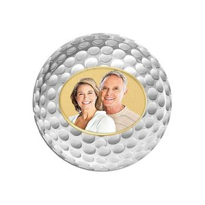 Photo Two Tone Golf Ball Marker with Name