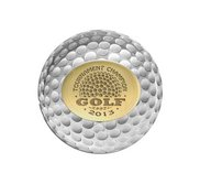 Personalize Logo Two Tone Golf Ball Marker with Name