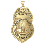 Personalized United States Capitol Transit Police Badge with Your Rank and Number