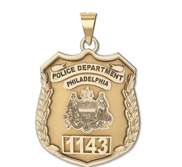 Personalized Philadelphia Police Badge with Your Number