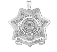 Personalized Philadelphia Sheriff s Badge with Your Number   Rank
