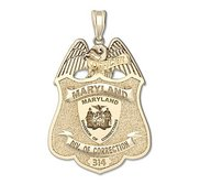 Personalized Maryland Corrections Officer Police Badge with Badge Number