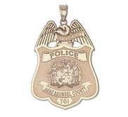 Personalized Maryland Police Badge with Your Rank  Number   Department