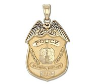 Personalized Baltimore  Maryland Police Badge with Your Rank and Badge Number