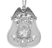 Personalized Maryland State Police Badge with Your Rank and Badge Number