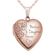 Rose Gold  Mother   Daughter Forever  Locket