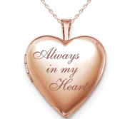 Rose Gold Plated Always In My Heart Heart Photo Locket