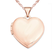 14k Rose Gold Classic Heart Photo Locket