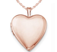 Rose Gold Plated Classic Heart Photo Locket