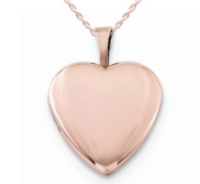 Rose Gold Plated Small Heart Photo Locket
