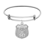 Police Mom Personalized Police Badge with Officer s Number Expandable Bracelet