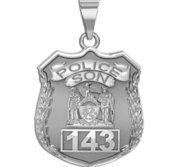 Police Son Personalized Police Badge with Your Number