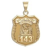 Police Daughter Personalized Police Badge with Your Number