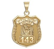 Police Mom Personalized Police Badge with Your Number