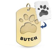 Personalized Paw Print Paw Print Medal